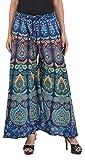 MRV FASHION Cotton Printed Stylish Multicolour Plazzo Pants For Women/girls (Assorted Colour & Assorted Design) (Indigo)