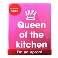 Queen of the Kitchen Apron For Kitchen Queens and Domestic Divas! Let them know who's in charge. This adjustable apron will cover your cupcake curves and the front  pocket is ideal for spoons, recipes, hip flasks etc Perfect gift for kitchen...