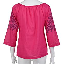 Kobay Womens T-Shirt Tops, Ladies' Printing Stand Three Quart Work Office Button Plus Size Blouse Top