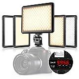 Zecti Dimmbare Videoleuchte 216 LEDs Camcorder Videolicht mit 4 einstellbare Farbtemperatur Beleuchtungsmodus für Canon Nikon Sony DSLR Camera Video