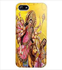 ColourCraft Maa Sherawali Design Back Case Cover for APPLE IPHONE 5