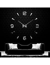 Anself ¡Creativo! DIY Reloj de pared extraíble de dígitos simples del efecto de espejo de acrílico vidrio de decal para la…