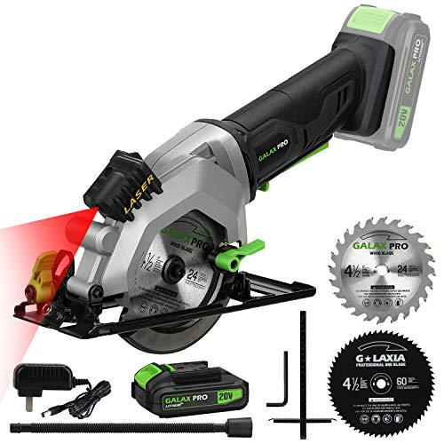 GALAX PRO Scie Circulaire sans Fil, Compacte à Main, Laser,...