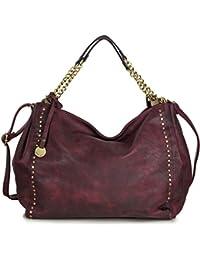 f9de7a1c7dec1 Große Handtasche Schultertasche Hobo Damen aus PU Kunstleder - XL groß (47  x 33 x