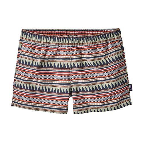 Patagonia Barely Baggies Short - Women's (Large, Belay Stripe/Desert Sage)