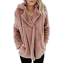 Minetom Chaqueta Invierno Mujer Casual Outwear Parka Coat Abrigo Sudaderas Cárdigan Capa Felpa De Peluche Teddy