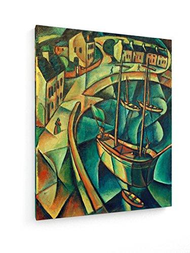 Paul Adolf Seehaus - Hafenbecken (Die Bütt) - 40x50 cm - Textil-Leinwandbild auf Keilrahmen - Wand-Bild - Kunst, Gemälde, Foto, Bild auf Leinwand - Alte Meister/Museum