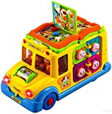 #9: Toyshine Intellectual School Bus Activity Toy Vehicle with Music, Sounds, and Lights