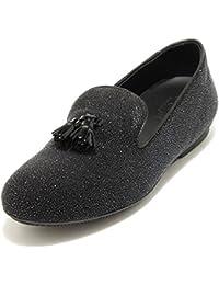 2618G mocassino donna nera HOGAN WRAP 144 NAPPINE LUREX scarpa loafer shoes  wome 505f0c52068