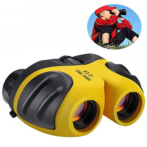 -12 Jährige, TOP Toy Shock Proof Compact Fernglas für Kinder Geschenke für Teen Mädchen Jungen Gelb TTUKTT03 (Top-geschenke Für 11-jährigen Jungen)
