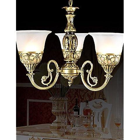 Goud lampadario lampadari in bronzo marezzato vetro europeo 220V classico
