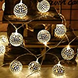 KING String Lichter marokkanischen Ball 10 / 20LED Globe Fairy String Kugel Laterne Patio (E)