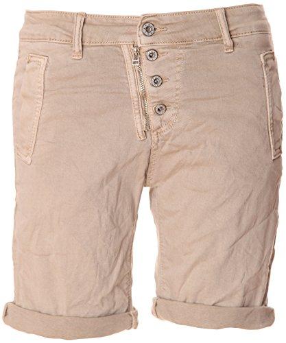 Basic.de BASIC.de Bermuda-Shorts 4-Knopf mit Reißverschluss Beige XS