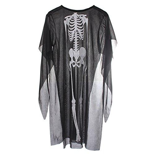 Kinder Skelett Schädel Teufel Geist Robe Mantel Cosplay (Kinder Teufel Für Kostüme)