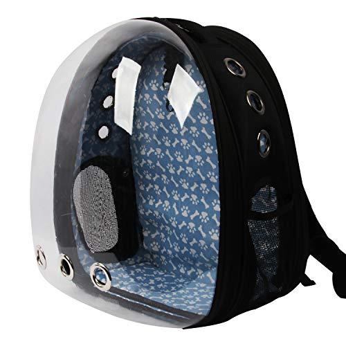 Conysan Panorama Katzen Hunde Reiserucksäcke, Kapseln für Haustiere, transparente atmungsaktive Tierrucksäcke (schwarz)