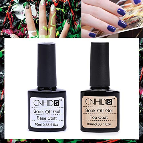 Base Coat Licht (Cwemimifa Nail Care Tape,2 Stück Top Coat + Base Coat UV Gel Nagellack Primer Nail Art CNHIDS,Clear)