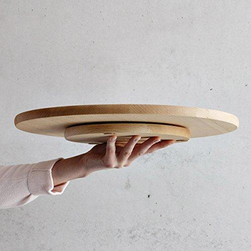 Pizza Teller 40 cm Holzteller Anrichteplatte Tortenteller Holz Teller