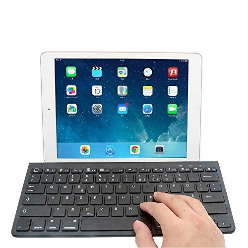 MOGOI Bluetooth-Tastatur mit Ständer für Tablets, ultradünn, tragbare kabellose Tastatur für Apple iPad Air/Air 2, iPad Mini, iPad Pro und andere Bluetooth-fähige Geräte, Apple Edition (weiß) - Ipad Air Für Tastatur Portable 2