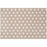 Creative Carpets Alfombra Estrellas, Algodón, Rosa, 120 x 180 cm