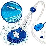 Masthome Automatischer Poolreiniger 83 x 38.5 x 18.5cm Schwimmbad Bodensauger,12 Spiralschläuche mit Weichen Hochwertigen Wellrippenrohren