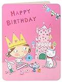 James Ellis Kinder Mädchen und Tea Party und Castle Geburtstagskarte
