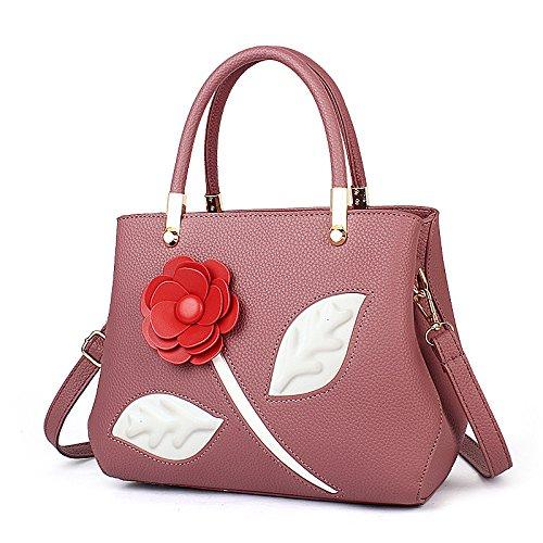 Mefly Herbst und Winter Neue koreanische Mode Rose Handtasche Single Schulter Obliquer Querschnitt Tasche Persönlichkeit Rubber red