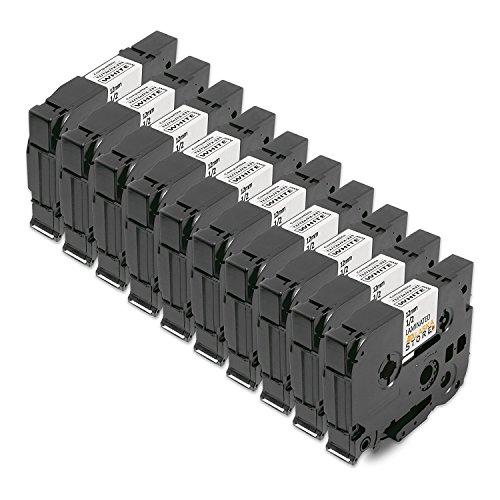 10x Tape Cassette Brother TZe 231 TZ 231 Negro sobre Blanco 12mm x 8m Para Tze Tape Brother P Touch PT 1000 P700 GL H100 GL H105 GL 200 PT 1080 PTE 550WVP PT P700 PT H300 PT 1005 PT 1010 PT 1090 PT 1200