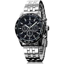 Alienwork IK Automatic Watch Self-winding Multi-function Mechanical Metal black silver 98542G-02