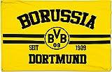Hissflagge Borussia Dortmund - 100 x 150 cm, + gratis Aufkleber, Flaggenfritze®