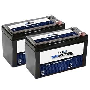Batterie au PloMB SLA 12 V 7.4AH remplace pxl12072 lc-r127r2p1 wp7. 2–12 sh1228w-Lot de 2