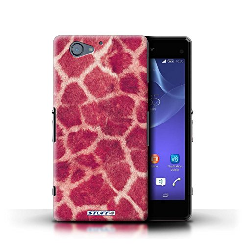 Kobalt® Imprimé Etui / Coque pour Sony Xperia A2 / Pourpre conception / Série Girafe animale Peau/Motif Rose