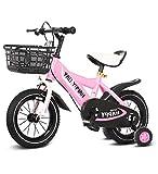 SXMXO Bicicleta Montaña 12' 14' 16' 18' Bicicleta Infantil Niño Y Niña   12 14 16 18 Pulgadas   A Partir De 3 Años   V-Brake Y Freno De Contrapedal   Modelo BMX 2019,Pink,16inches