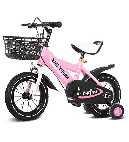 """SJSF Y Kinderfahrräder 12\"""" 14\"""" 16\"""" 18\"""" Zoll Kinderfahrrad Jungen Mädchen Ab 3 Jahre Mit V-Brake Und Rücktritt - BMX Modell 2019,Pink,16inches"""