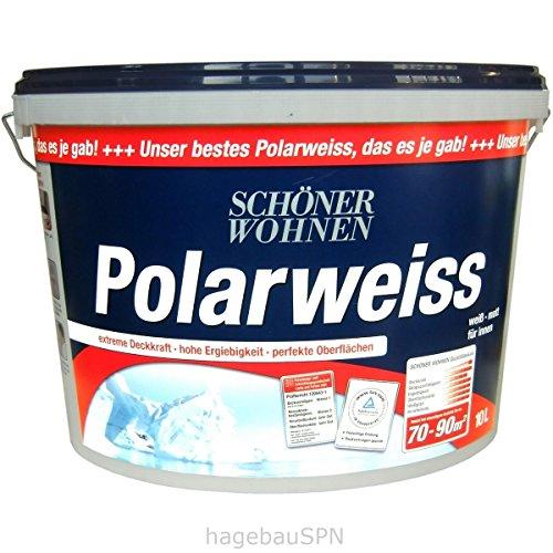Preisvergleich Produktbild SCHÖNER WOHNEN Innenfarbe »Polarweiss« 10 Liter