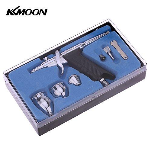 Kkmoon kit di aerografo pistola a doppia azione con 3 coppe per pittura d'arte tatuaggio manicure