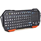 iClever Backlit Portable Mini Wireless Bluetooth Keyboard with Built-in Touchpad & Rechargeable Battery for Smartphones, Tablets, Laptops