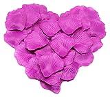 Trendario 500 x Rosenblüten, Rosenblätter, Blumenblätter, Seidenblumen, Kunstblumen für die Hochzeit aus Seide (lila)