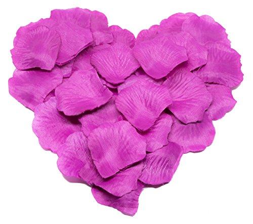nblüten, Rosenblätter, Blumenblätter, Seidenblumen, Kunstblumen für die Hochzeit aus Seide (lila) ()