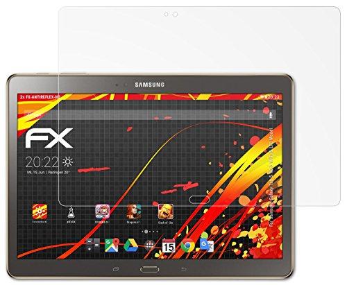 Samsung Galaxy Tab S 10.5 (WiFi & LTE Model) Displayschutzfolie - 2 x atFoliX FX-Antireflex-HD hochauflösende entspiegelnde Schutzfolie Folie