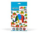 #6: Apsara Jumbo Color Pencils - 12 Shades (Multicolor)