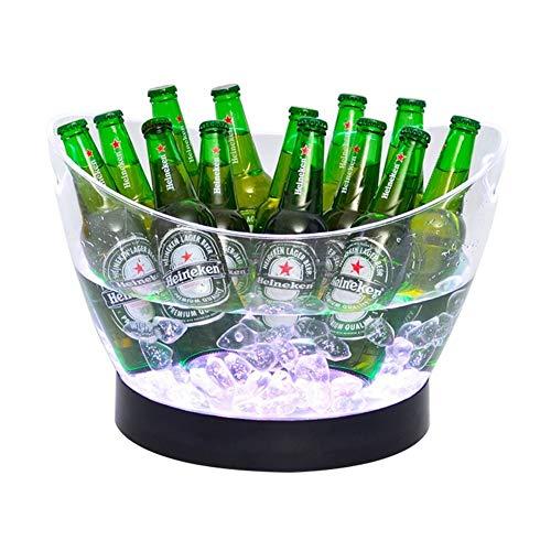 Wein-kühler Aus Holz (Kylinjtt Eiskübel Farben ändernden LED-Kühler Eimer große Kapazität Champagner Wein trinkt Bier Eimer für KTV Party Bar Home Hochzeit)