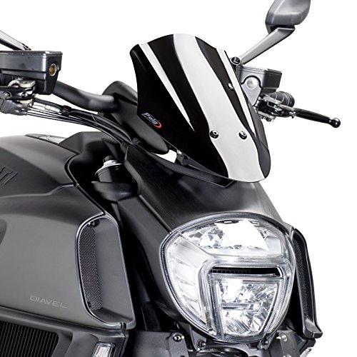 Windschild Puig Sport Ducati Diavel 14-16 schwarz