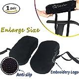 SMELOV ® Stuhl Armlehne Pads und Memory Foam Ellenbogenbandage Arm Pad, universal für Zuhause oder Büro Stuhl (schwarz groß)