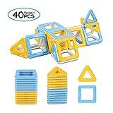 Peradix Super Magnetische Bausteine Bauklötze Konstruktionsbausteine Lernspielzeug Bunt 40PCs für Kinder ab 3 Jahre