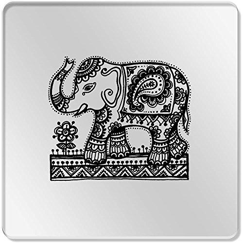 Azeeda 6 x \'Indischer Elefant\' Klar Untersetzer (CR00099943)