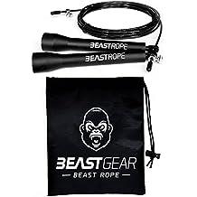 Corde à Sauter Beast Gear – Speed Rope Pour Entraînement, Crossfit, Fitness, Boxe, MMA, Gym – Accessoire Cardio Idéal pour Maigrir, Brûler des Calories, Se Muscler