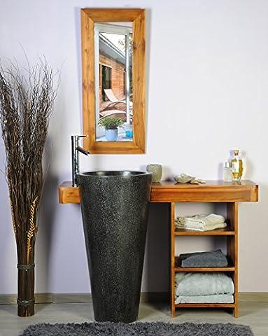 saniteck Frankreich–Badezimmer Teak 120Cleopatra schwarz