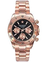 Mark Maddox HMCasual, Reloj de Pulsera Para Hombre, Color Negro/Oro Rosa