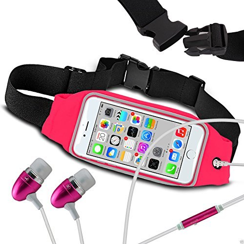 Preisvergleich Produktbild N4U Online - Fitness Sport Bund Hülle & Freisprecheinrichtung Für Microsoft Lumia 640 XL LTE Dual SIM - Verschiedene Farben - Hot Pink