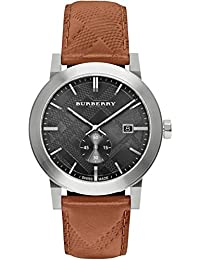 Para hombre Burberry el Ciudad en relieve Check reloj bu9905